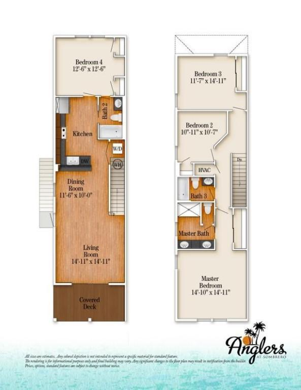 Floor Plan for Yellowfin 4BR/3BA by Sombrero Beach with Pool and Dockage PLR2016-00276