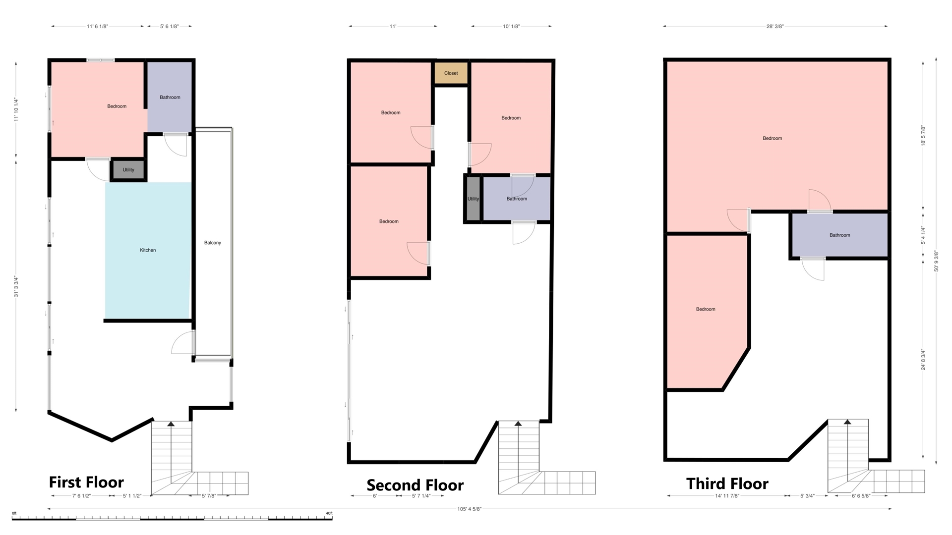 Floor Plan for Vaca Blanca - Large waterfront home, Located on Vaca Cut with Private Pool and Dock! PLR2017-00055