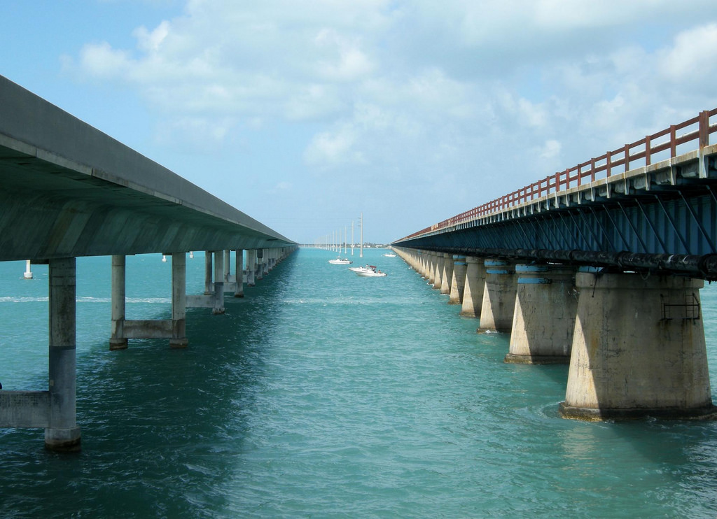 New and Old Seven Mile Bridges